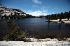 Katedralni jeziora, Yosemite park narodowy Fotografia Stock