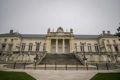 katedralny Auxerre pejzaż miejski Etienne France rzeczny świątobliwy Yonne Zdjęcia Royalty Free