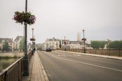 katedralny Auxerre pejzaż miejski Etienne France rzeczny świątobliwy Yonne Zdjęcia Stock