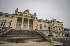 katedralny Auxerre pejzaż miejski Etienne France rzeczny świątobliwy Yonne Obraz Royalty Free