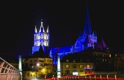 katedralny cehtral Lausanne Switzerland Szwajcaria Zdjęcie Stock