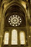 katedralny Chartres wnętrza widok Fotografia Stock
