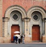 katedralny chi miasta paniusi ho minh notre Vietnam Obraz Royalty Free