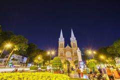katedralny chi miasta paniusi ho minh notre Vietnam Obrazy Royalty Free