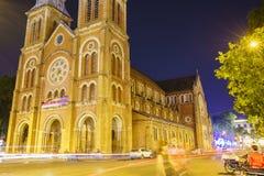 katedralny chi miasta paniusi ho minh notre Vietnam Fotografia Royalty Free