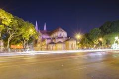 katedralny chi miasta paniusi ho minh notre Vietnam Zdjęcie Stock