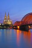 katedralny cologne Germany Rhine Obrazy Stock