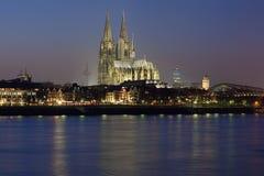 katedralny cologne wieczór Germany widok Fotografia Royalty Free