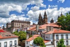 katedralny compostela de Santiago Galicia, Hiszpania obrazy stock