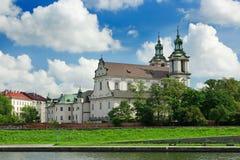 katedralny Cracow na skalce Obrazy Royalty Free
