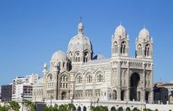 Katedralny De Los angeles Specjalizujący się, główny kościół i miejscowego punkt zwrotny, Marseille, Francja Zdjęcie Royalty Free