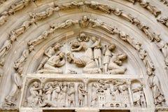 katedralny Denis katedralny Paris portalu święty Obraz Stock
