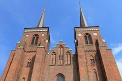 katedralny Denmark Roskilde Zdjęcia Royalty Free