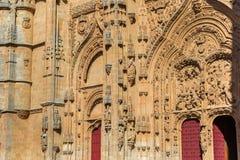 katedralny fasadowy Salamanca Zdjęcie Royalty Free