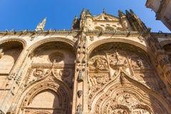 katedralny fasadowy Salamanca Obraz Royalty Free
