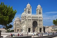 katedralny France Marseille Zdjęcia Stock
