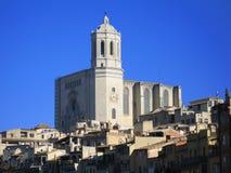 katedralny Girona Zdjęcia Royalty Free
