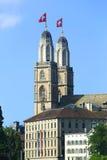 katedralny grossmunster Zurich Fotografia Royalty Free