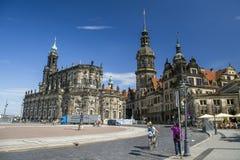 Katedralny i Drezdeński kasztel Zdjęcia Stock