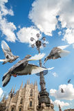 katedralny Italy Milan Obrazy Royalty Free