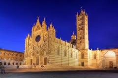katedralny Italy Siena Obrazy Royalty Free