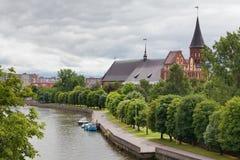 katedralny Kaliningrad Russia Fotografia Stock