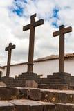 Katedralny kościół, chrześcijanina krzyż, Puno, Ameryka Południowa. Zdjęcie Royalty Free