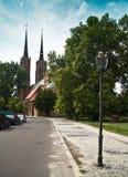 Katedralny kościół Wrocławski St John Baptystyczny, Polska Obrazy Stock