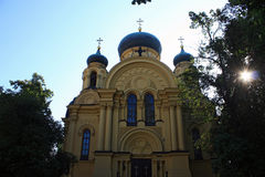 katedralny kościelny wielkomiejski ortodoksyjny Warsaw Fotografia Stock