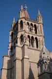 Katedralny Kościelny wierza, Lausanne Zdjęcia Royalty Free