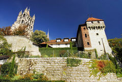 katedralny Lausanne Fotografia Royalty Free