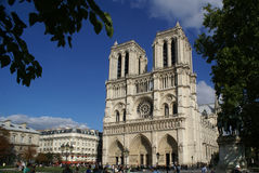 Katedralny los angeles Notre Damae Paryż Fotografia Royalty Free