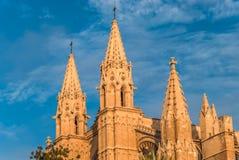 Katedralny losu angeles Seu Palma de Mallorca Stary Architektoniczny kościół chrześcijański Obraz Stock