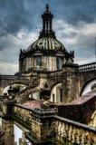 Katedralny Metropolitana, Meksyk, Dachowy widok Zdjęcia Stock