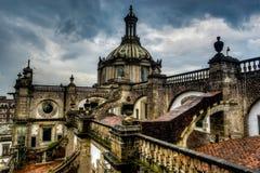 Katedralny Metropolitana, Meksyk, Dachowy widok Obraz Royalty Free