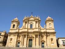 Katedralny miasto Noto Zdjęcia Stock