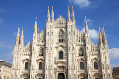 katedralny Milan Obraz Stock