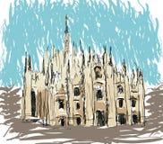 katedralny Milan Obraz Royalty Free