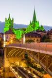 Katedralny Notre Damae Lausanne Zdjęcie Royalty Free