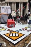 katedralny obozowisko London zajmuje Paul st s Zdjęcie Royalty Free