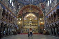Katedralny ortodoksyjny w starym romanian miasteczku Fotografia Royalty Free