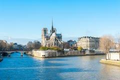 katedralny paniusi France notre Paris Obraz Royalty Free