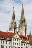 katedralny Regensburg Fotografia Royalty Free