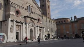 Katedralny Reggio Emilia time lapse zbiory