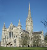katedralny Salisbury Obrazy Royalty Free