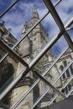 katedralny Salisbury widok okno Zdjęcia Stock