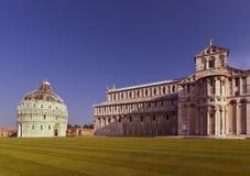 Katedralny Santa Maria Assunta i Baptistery St John_Pis Fotografia Stock