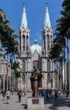 Katedralny Se Sao Paulo Brazylia Obrazy Royalty Free