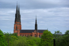 katedralny Sweden Uppsala Zdjęcia Stock