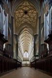 katedralny wewnętrzny Salisbury Fotografia Royalty Free